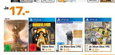 [Lokal Saturn Hamburg/Norderstedt] Verschieden Gamingangebote. ZB. Sid Meier's Civilization VI (PC) für 17,-€ etc.
