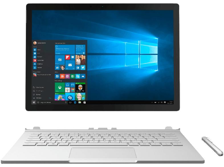 (SATURN) MICROSOFT Surface Book (13.5 Zoll) 128 GB SSD, 8GB RAM, Intel Core 5 + Maus & Dockingstation