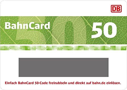 [Prime Day] Bahncard 50 Geschenkgutschein für 1 Jahr und Kunden zwischen 27 und 59