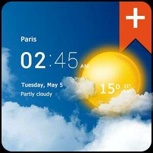 [Android] Transparent Clock & Wetter Pro - 10ct statt 3,19€