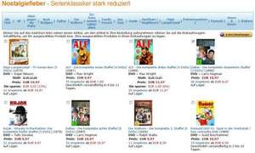 [ DVD ] Nostalgiefieber - Serienklassiker stark reduziert ab 6,97 EUR @ Amazon.de