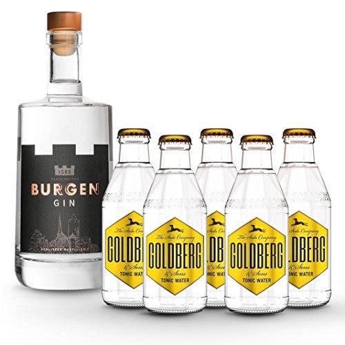 Amazon Prime Day: Burgen Gin 45% vol. 0.5 Liter inkl. 5x Goldberg Tonic Water 0.2 Liter @37,95 Euro inkl Versand