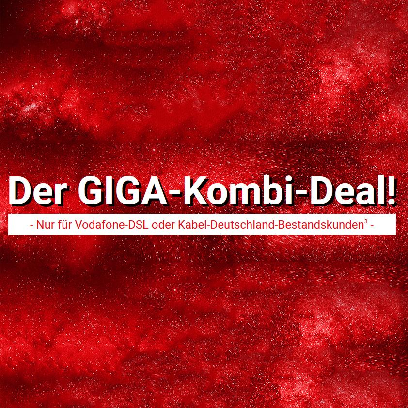 Vodafone GigaKombi-Deal: Samsung Galaxy S8, S8+, IPhone7 / 14 GB LTE + Allnet & SMS / 36,99 € pro Monat / Nur für Vodafone-DSL oder Kabel-Deutschland-Bestandskunden