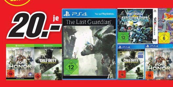 [Lokal Mediamarkt Recklinghausen] For Honor (PS4/XB1), The Last Guardian (PS4), COD- Infinite Warfare  Legacy (PS4/XB1) für je 20,-€
