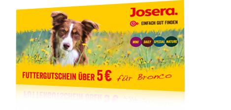 2x Kostenlose JOSERA Hundefutterprobe UND/oder Katzenfutterprobe + 5€ Gutschein für Onlineshop/Filiale MBW: 10€ (begrenzte Stückzahl)