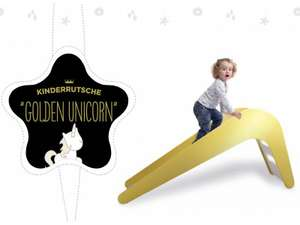 "Jupiduu Kinderrutsche ""Golden Unicorn"" gold • Versandkostenfrei!"
