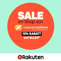 15% auf Alles im Shop von computeruniverse auf Rakuten - z.B. Tefal Actifry Heißluftfritteuse für 144€ statt 188€
