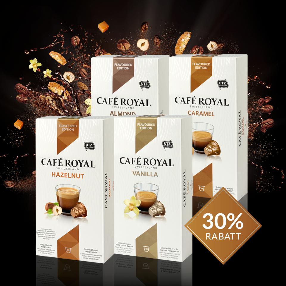 30% Rabatt auf Kaffeekapseln Nespresso Flavoured Edition