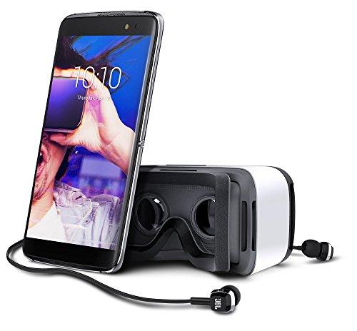 Alcatel Idol 4S Dual Sim inkl. VR Brille & JBL In Ear Kopfhörer, Farbe: grau, Amazon.de, Neu