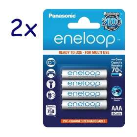 8x Panasonic eneloop Akku Micro AAA 800mAh für 8,49€ (via Paydirekt @rakuten.de)
