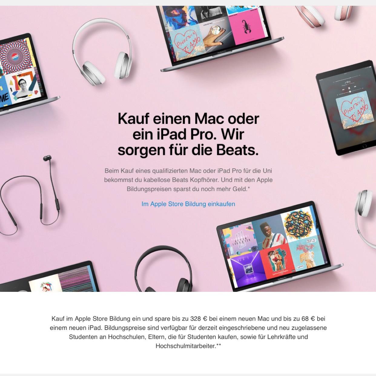 Apple Back To School 2017 (Free Beats X/Solo 3) UniDays
