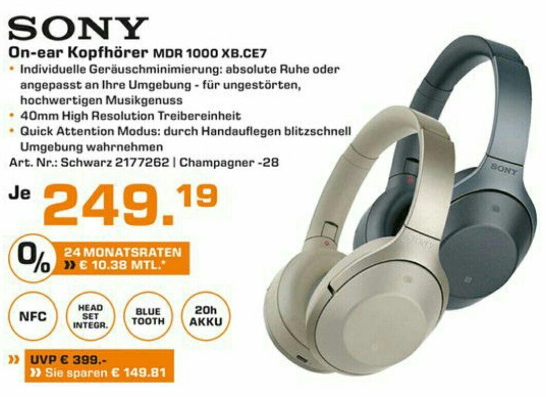Sony MDR 1000X bei allen Saturn Baden Württemberg 249,19€