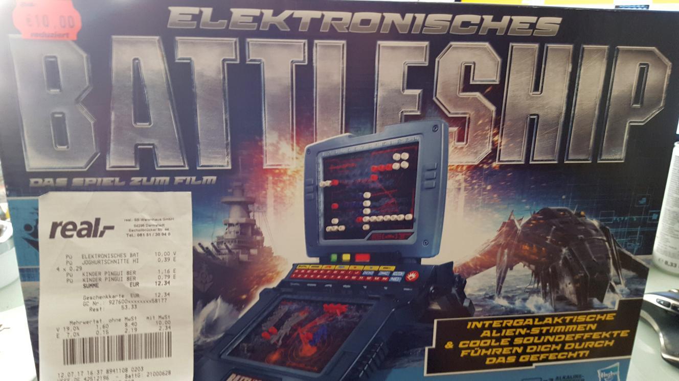 Hasbro 38194100 Elektronisches Battleship für 10€ [vereinzelt bei Real]