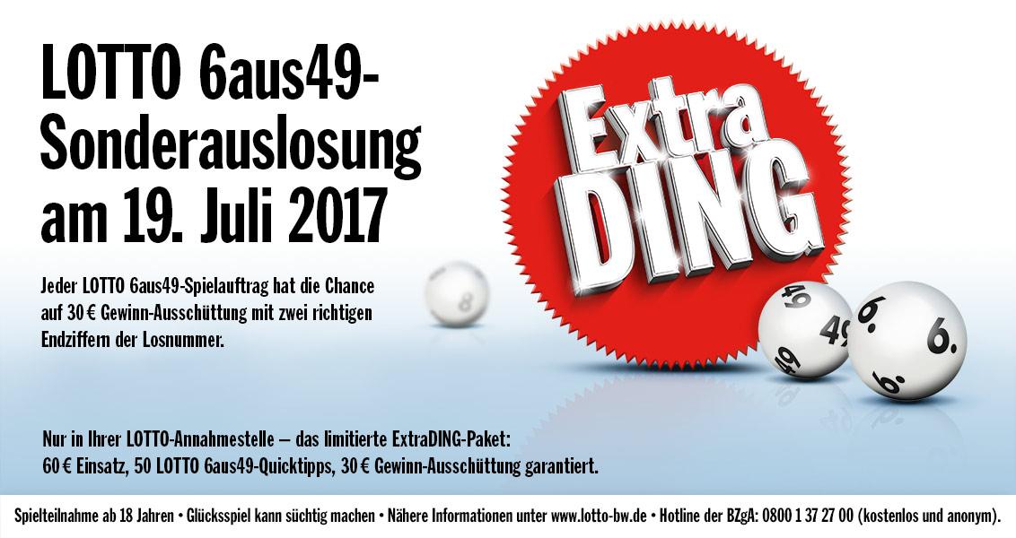 Lokal in BW 50 x LOTTO 6aus49-Quicktipps für 60€ anstatt 100,20€