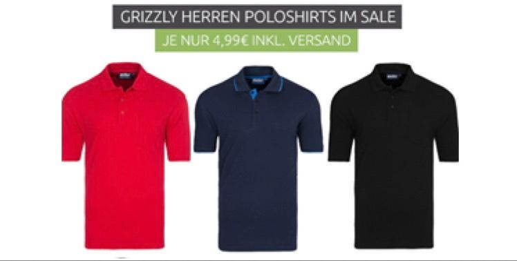 [Outlet46] Verschiedene Grizzly Herren Poloshirts für je 4,99€