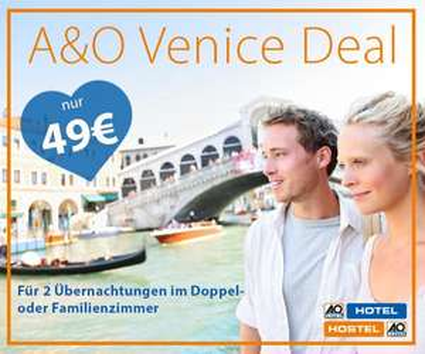 A&O Hotel Venedig - Gutschein für 2 Nächte