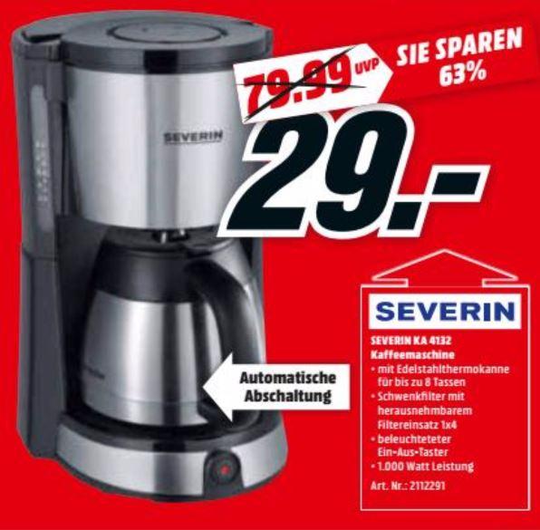 [MM Berlin/Potsdam/Schwedt] Filterkaffeemaschine Severin Select Thermo KA 4132