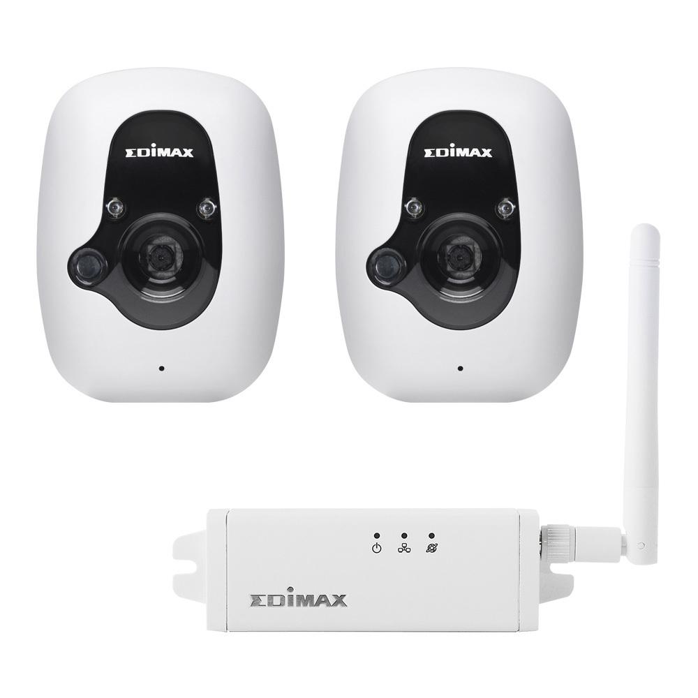 [NBB] Edimax IC-3210WK Smarte Sicherheitskamera Kit für den Innenbereich (2x Kamera, 1x Zentraleinheit)