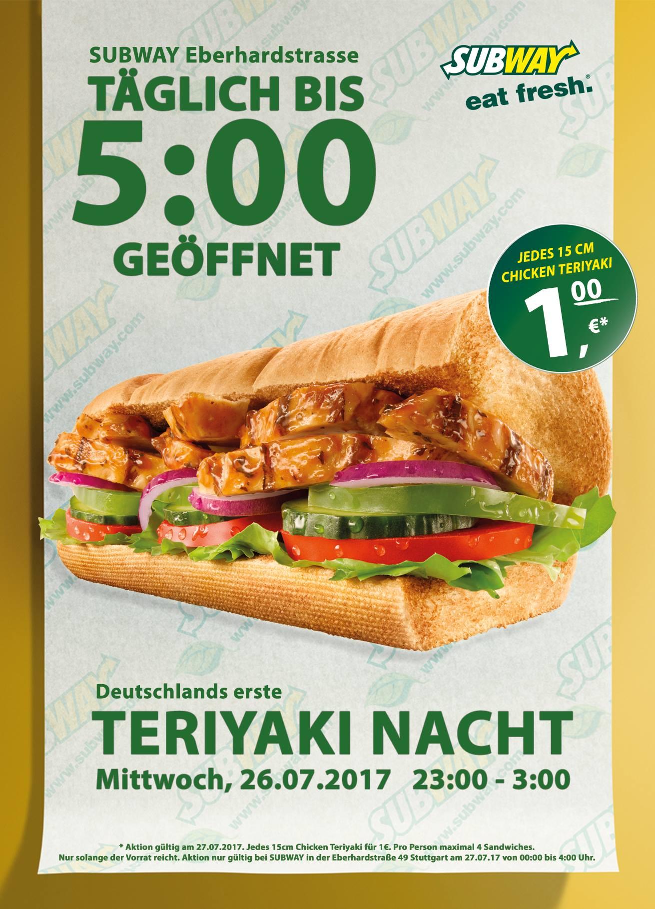 [Lokal] Chicken Teriyaki Nacht 15cm Stuttgart 26.07.2017 23:00 - 3:00