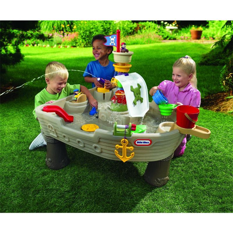 [real] Little Tikes Wassertisch Piratenboot (Outdoor Wasserspielzeug für Kinder ab 24 Monaten)