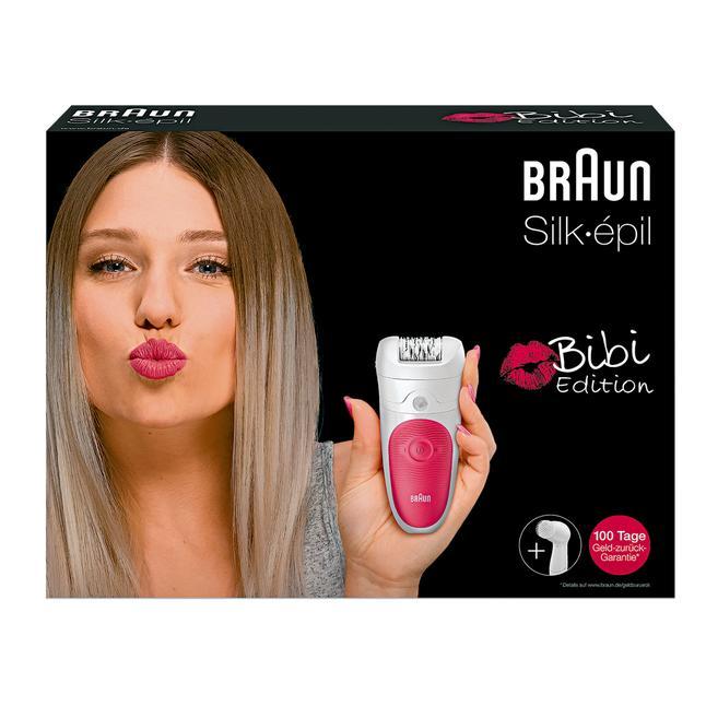 [Rossmann] Braun Silk-épil Epilierer Bibi-Edition mit Gesichtsreinigungsbürste, rosa