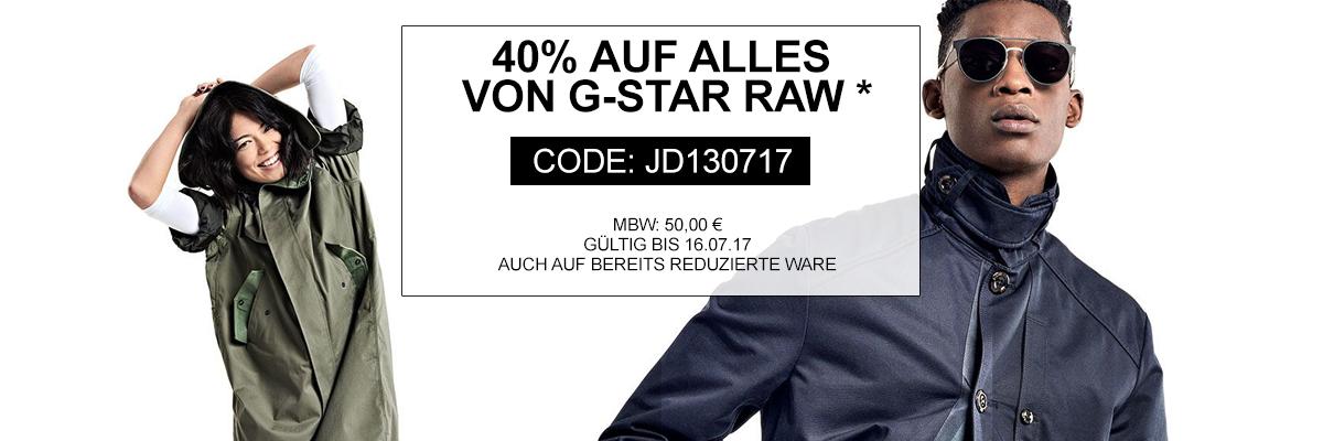 40 % auf G-Star (auch reduzierte Ware) bei jeans-direct.de