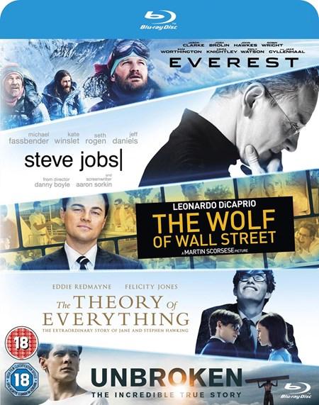Everest - Die Entdeckung der Unendlichkeit - Wolf Of Wall Street - Steve Jobs - Unbroken (5x Blu-ray) + Gratis DVD für 10,20€ (Zoom.co.uk)