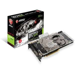 8GB MSI GeForce GTX 1070 SEA HAWK EK X Wasser