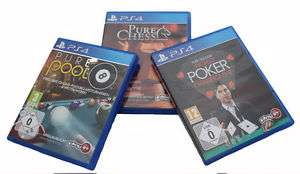 PS4 Bundle: Pure Chess, Pure Pool & World Poker Championsship für 34,95€ inkl. Versand statt 45,79€