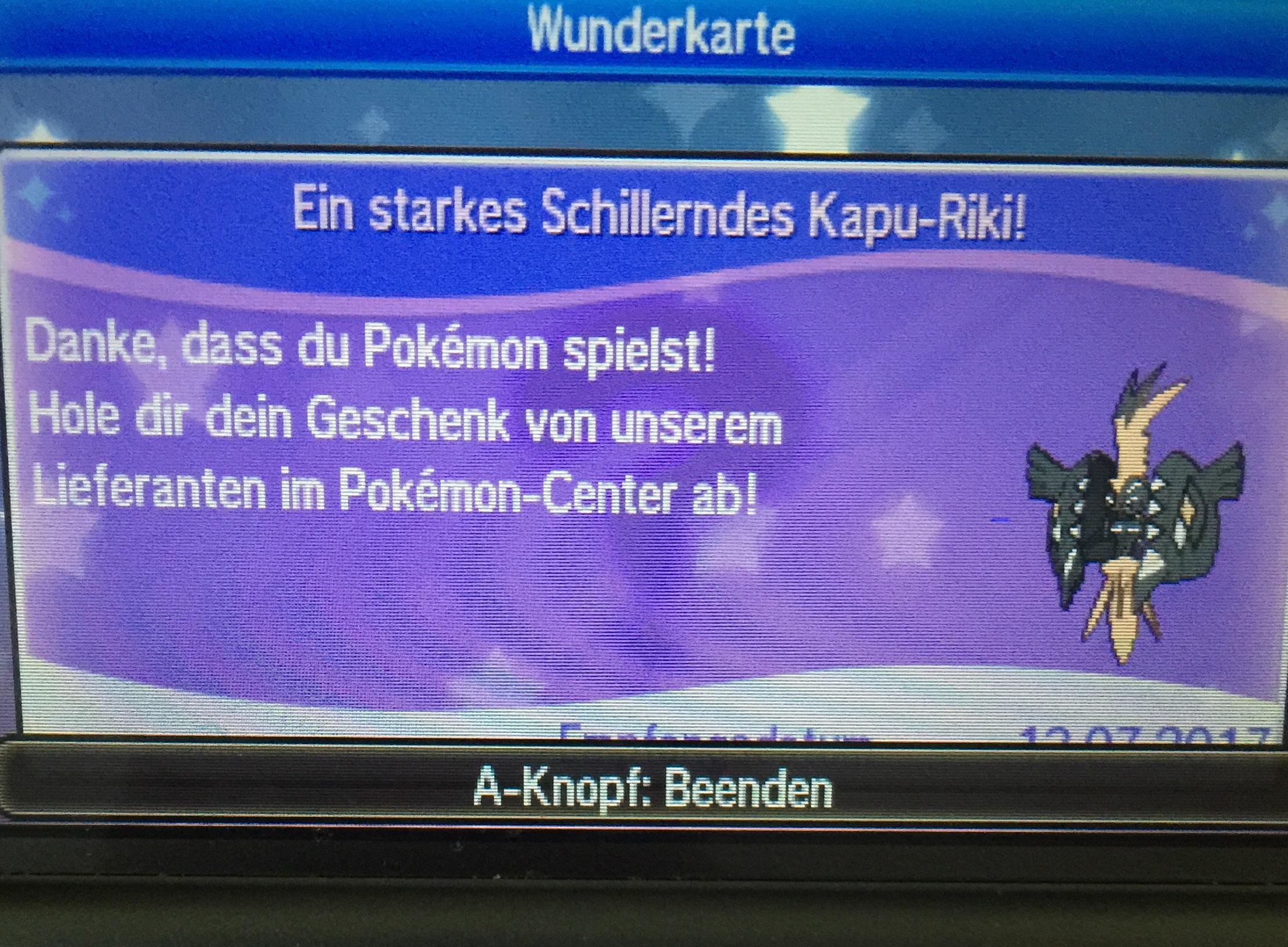 Shiny Kapu-Riki in Pokémon Sonne & Mond