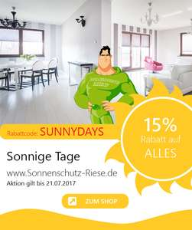Sonnenschutz-Riese - 15% auf alle Produkte