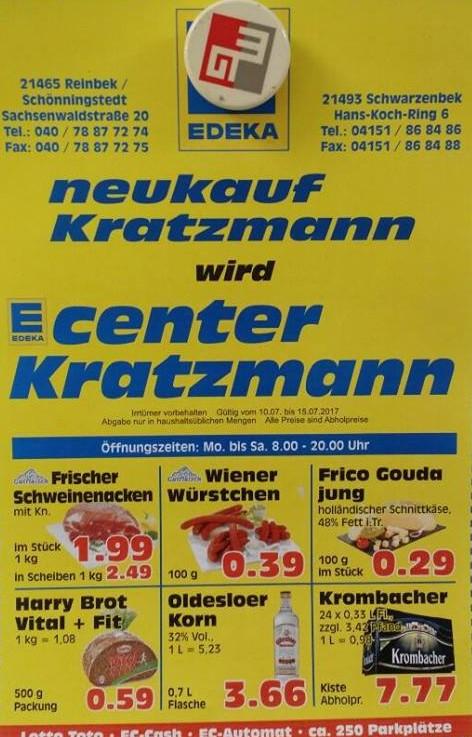 (Lokal) Edeka Reinbek/Schwarzenbek Krombacher Kiste 24x0,33l 7,77€