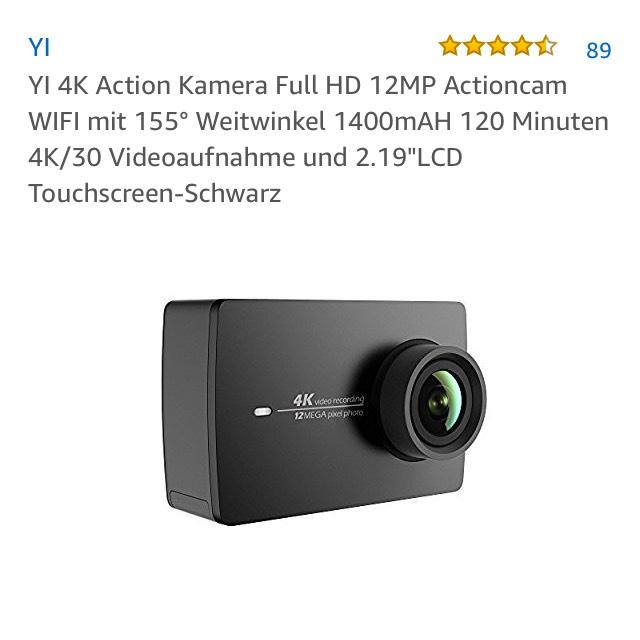 [AMAZON] Original Xiaomi Yi 4K Cam
