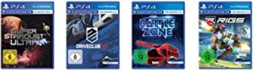 PSVR deutsche Versionen von Battlezone, Super Stardust Ultra, RIGS & Driveclub VR zusammen für 46,56 [Amazon.it]