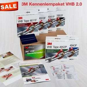 3M™ VHB™ Kennenlernpaket 2.0 Doppelseitiges Klebeband Metall Kunststoff