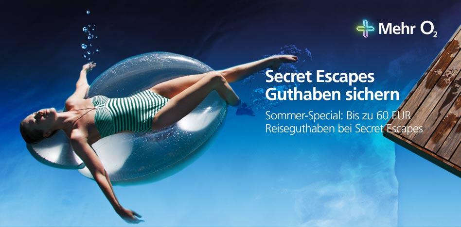 [Mehr o2] 20€ - 60€ Rabatt für Secret Escapes Neuanmeldungen