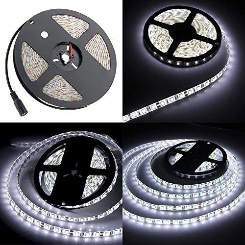 [Amazon.de] 5 Meter LED Leiste, 300 LEDs, Kürzbar, 5 A, 12 V, Weiß, IP65, 6000-6500K für 13,99€