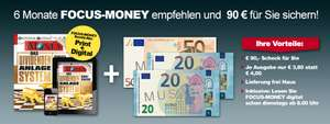 6 Monate Focus Money  mit 90 € Verrechnungsscheck