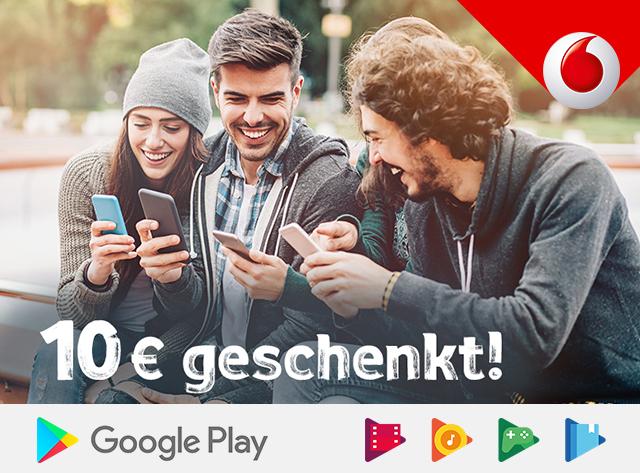 """10€ Gutschein bei Google Play für neue Nutzer der """"Vodafone-Abrechnung"""""""
