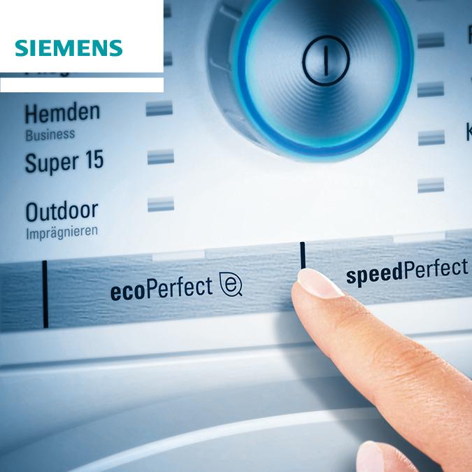 Siemens SparTage bei ao - z.B. iQ500 Waschmaschine mit Inverter Motor, 8kg, 1400 U/min für 389 €