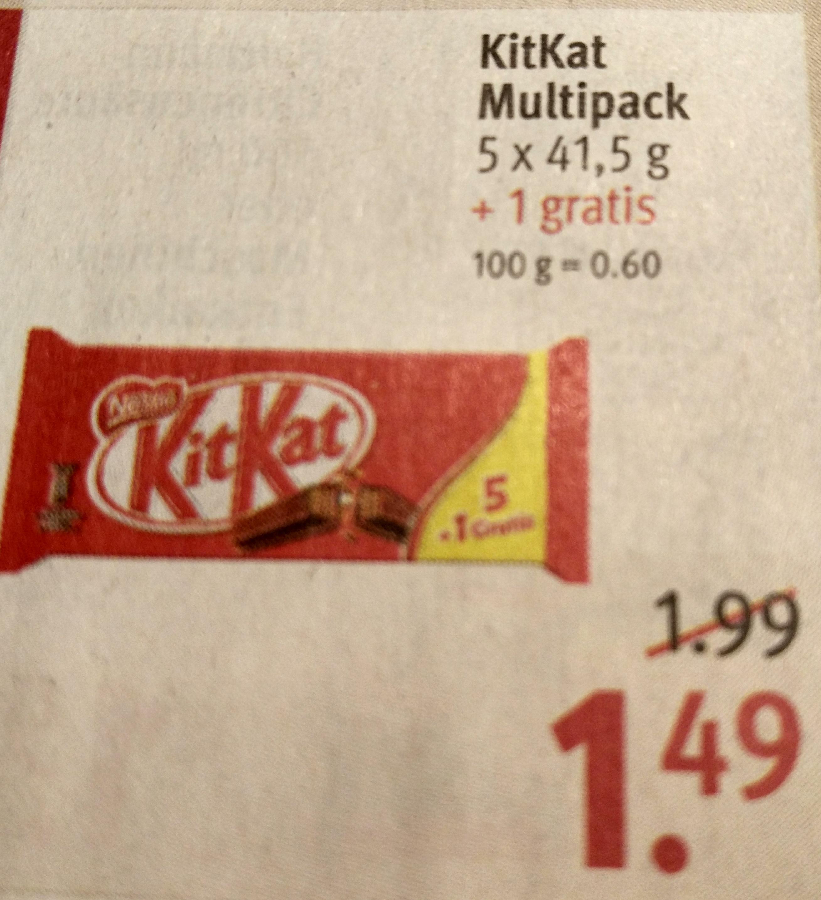 Rossmann - KitKat zum Knallerpreis 5,36€/Kg