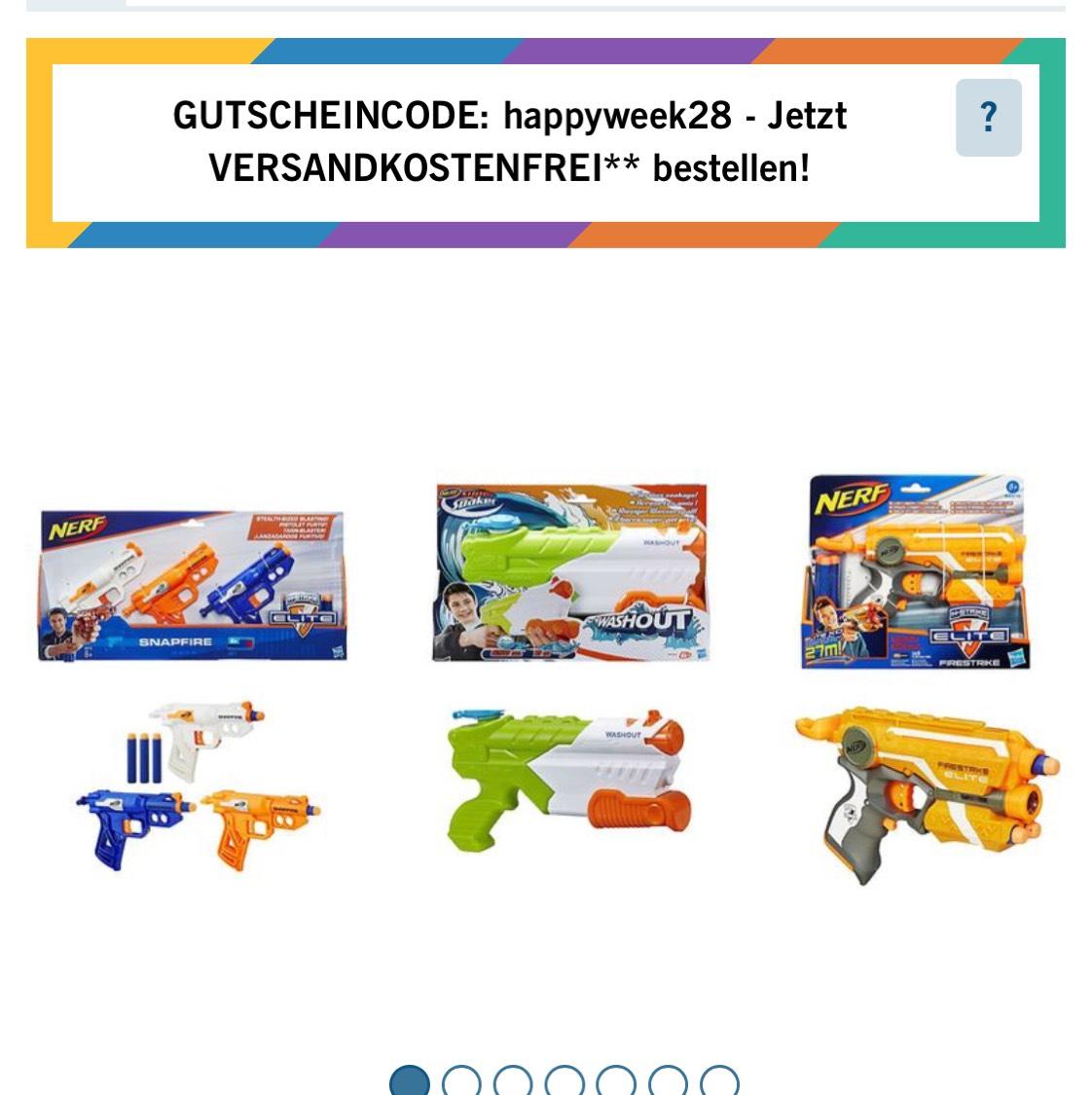 Lidl Online Nerf Snapfire 3er pack 6,99 Bestprice. Firestrike  und Super Soaker Washout jeweils für 6,99