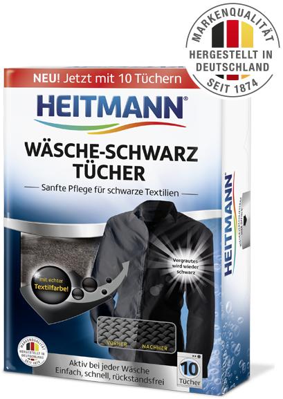 GzG Heitmann Wäsche Schwarz Tücher - Geld zurück bei Unzufriedenheit