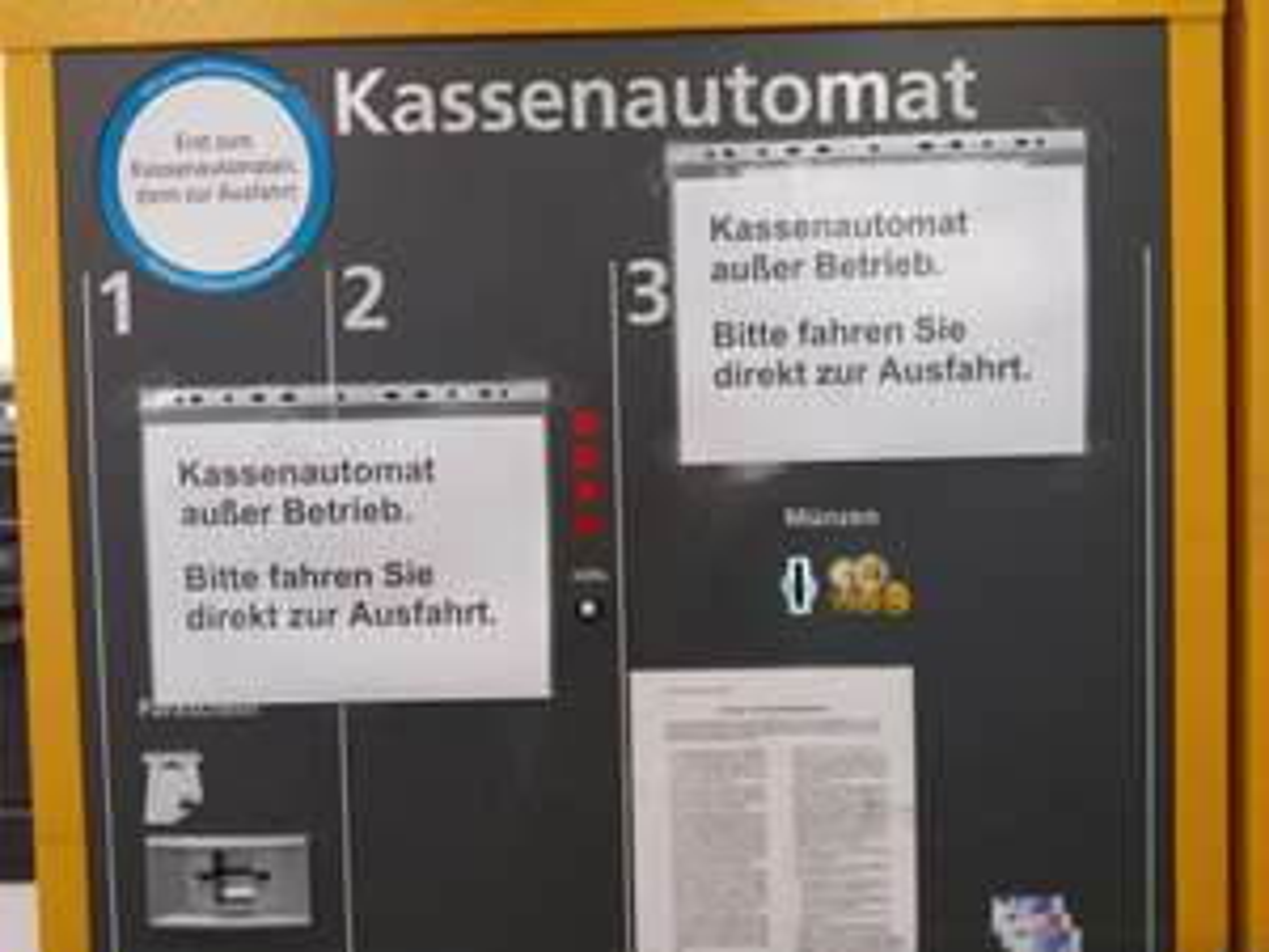 [Lokal] [Offline] [Berlin] Schöneweide Center - Den ganzen Tag gratis parken durch defekten Kassenautomaten. 100% Rabatt!!!11!!1elf!!