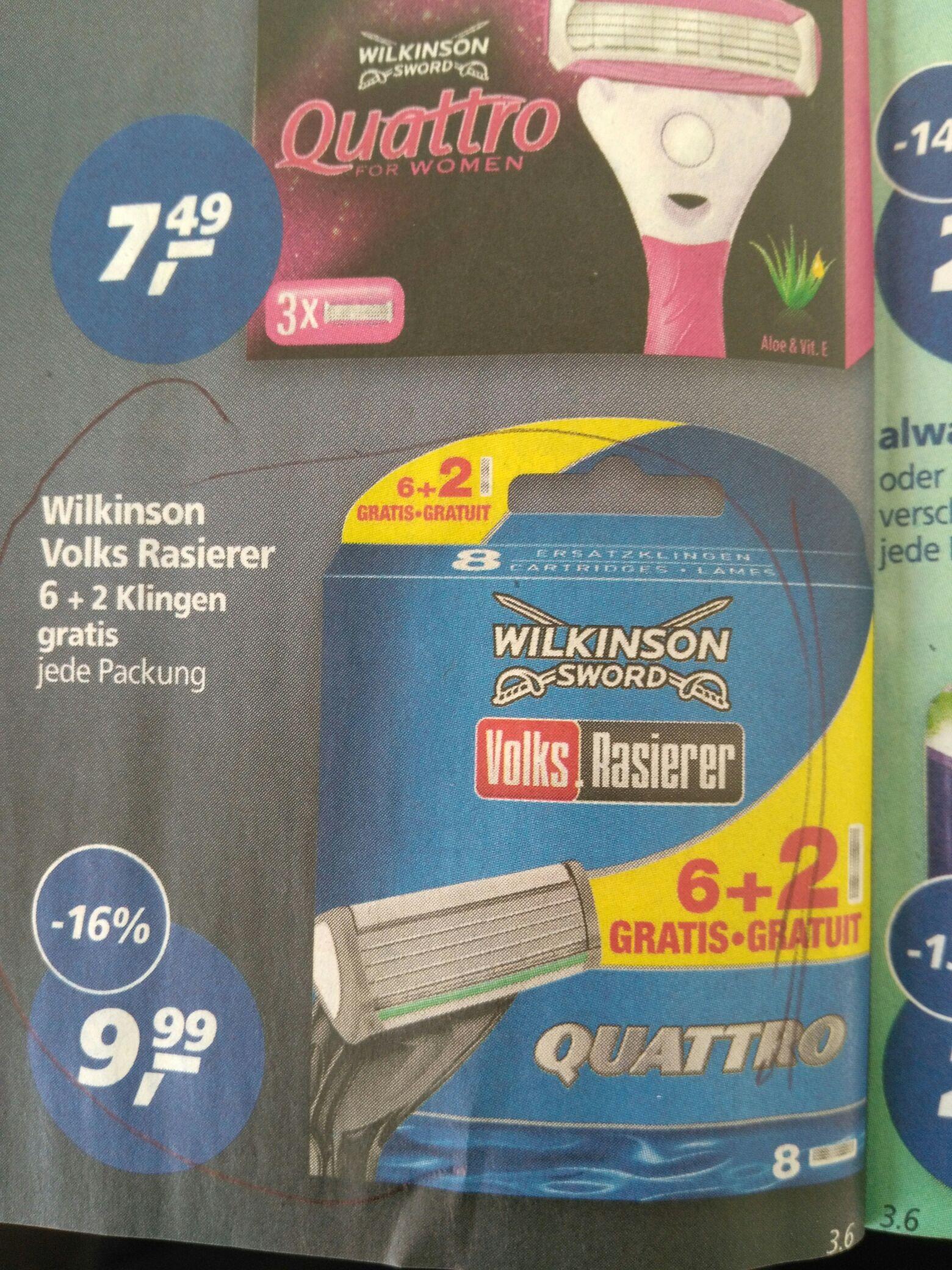 @real / Wilkinson Quattro Rasierklingen 8Stk.
