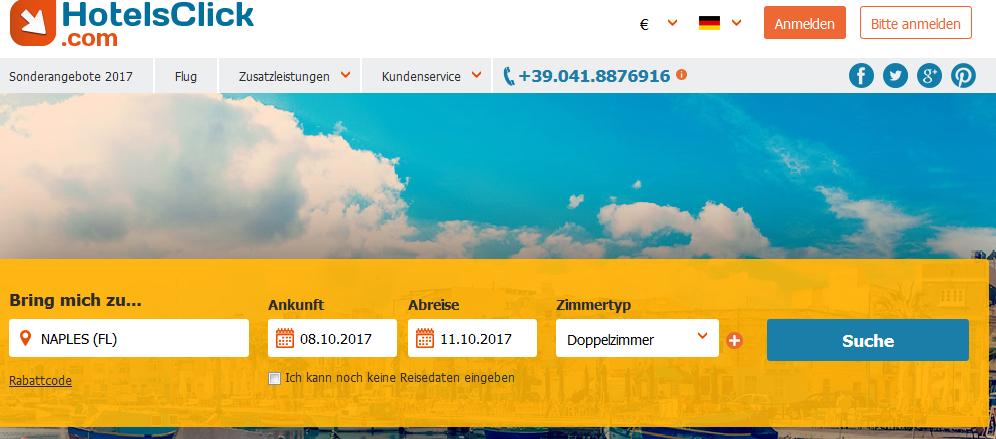 Hotelsclick.com 10% Gutschein