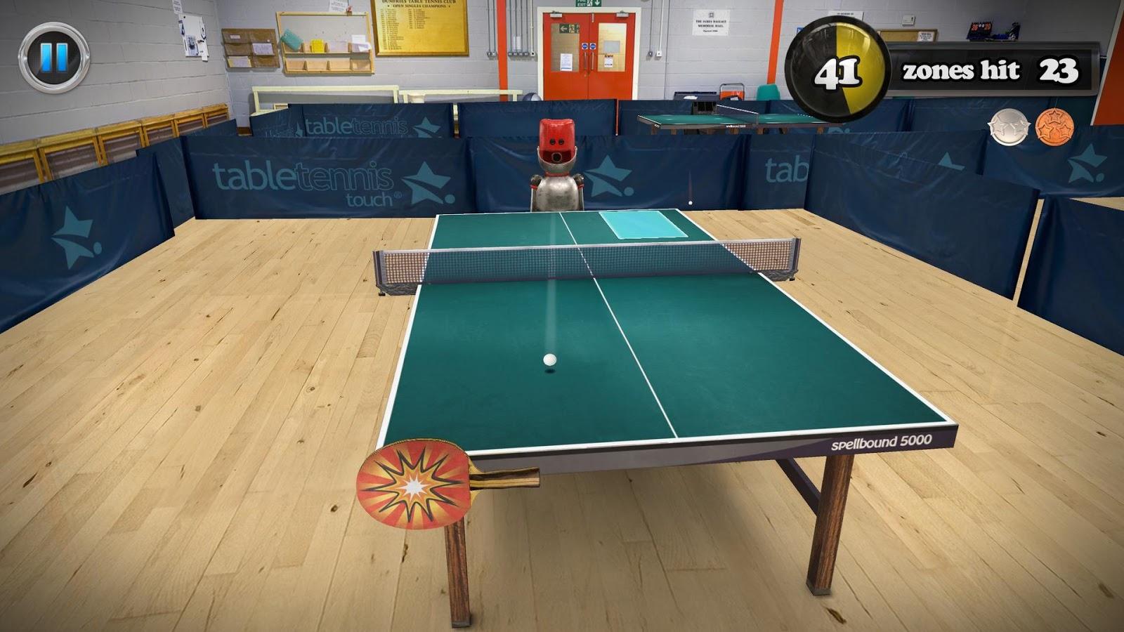 """Die App """"Table Tennis Touch"""" ist kurzzeitig von 3,39€ auf 0,89€ reduziert!"""