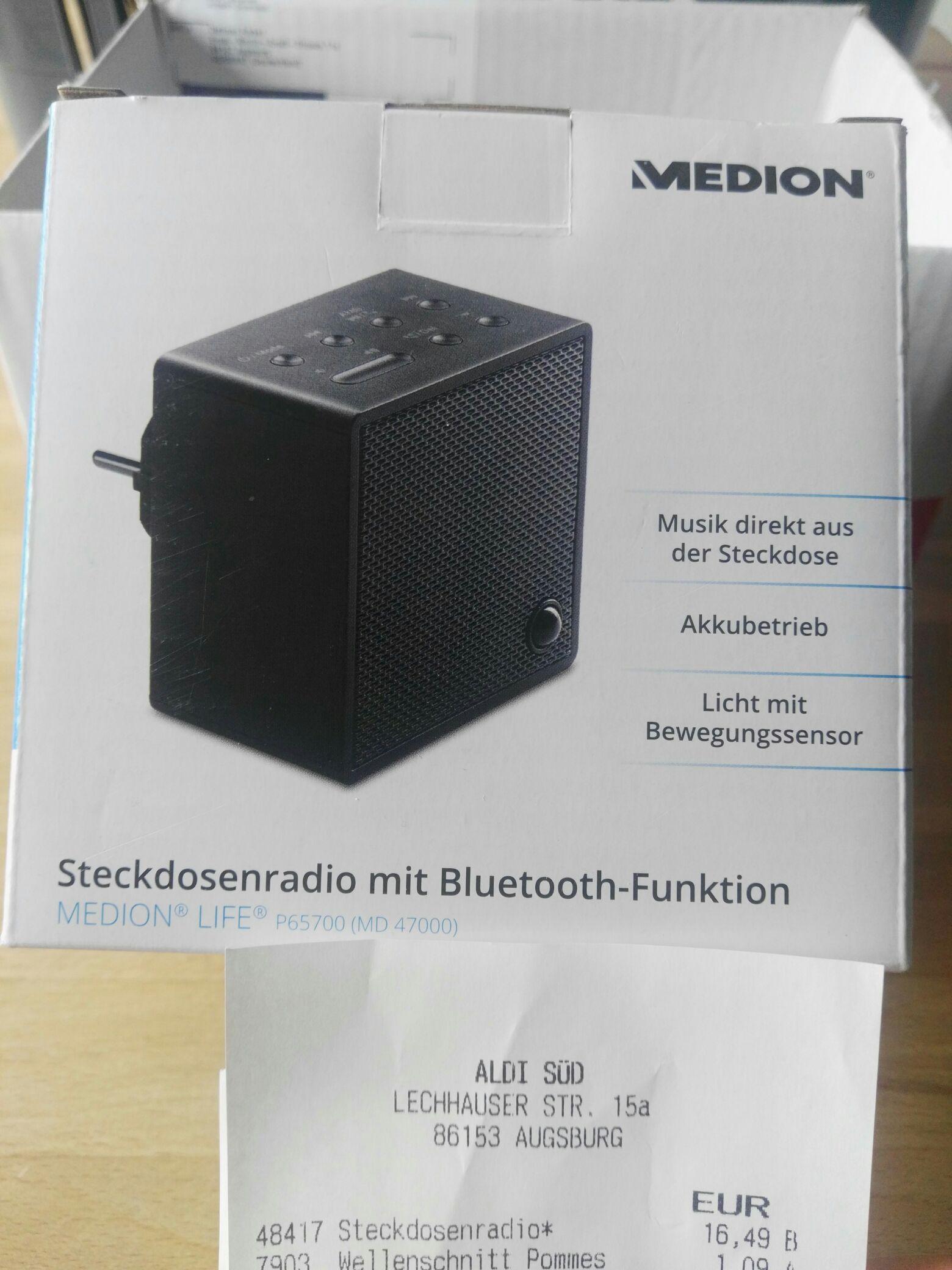Lokal Augsburg. Medion Steckdosen Radio mit Bluetooth