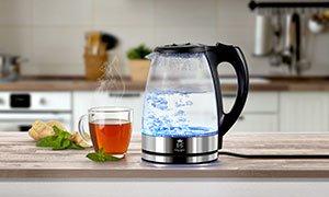 LED - Glas-Wasserkocher (Druckerzubehör.de)