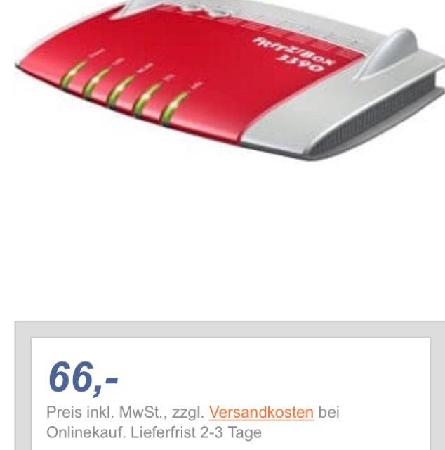 FritzBox 3390 lokal Expert Halle/S. für 66€ auch online